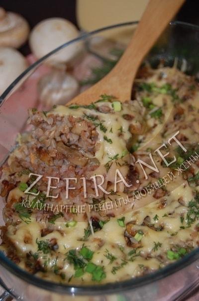 Гречневая запеканка с грибами - рецепт и фото