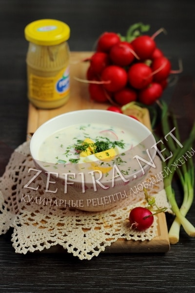 Холодник на кефире с редиской - рецепт и фото