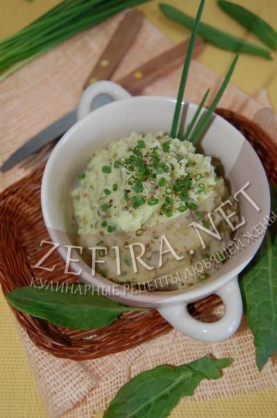 Картофельное пюре со щавелем и шпинатом - рецепт и фото