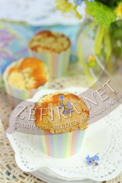 Кексы с ревенем - рецепт и фото