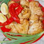 Куриные крылья в кисло-сладком соусе, запеченные в рукаве