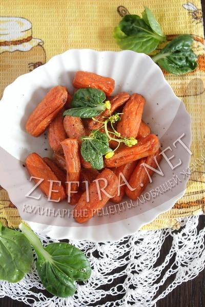 Морковь глазированная - рецепт и фото