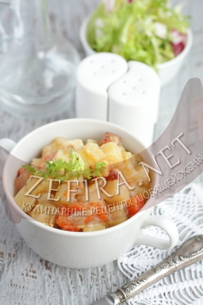 Овощное рагу с курицей - рецепт и фото