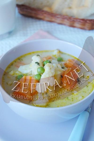 Овощной суп с курицей и сливками - рецепт и фото