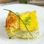 Пирог из лаваша с сыром в духовке