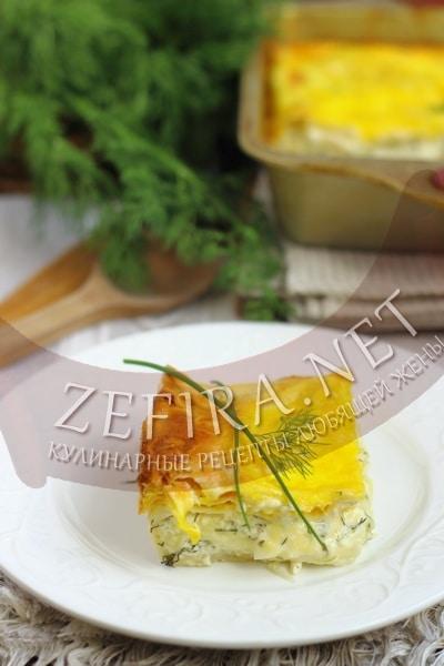 Пирог из лаваша с сыром в духовке - рецепт и фото