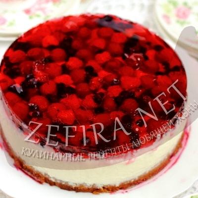 рецепты простой торт с ягодами