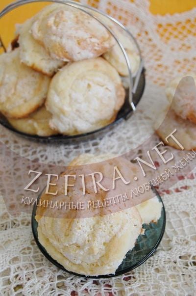 Творожное печенье с безе - рецепт и фото