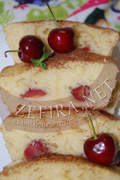 Кекс с черешней - рецепт и фото