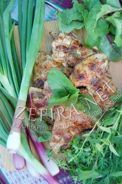Куриные крылышки в медово - соевом соусе, приготовленные на мангале - рецепт и фото