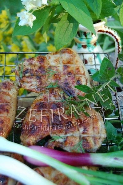 Куриные крылышки, жареные на мангале - рецепт и фото