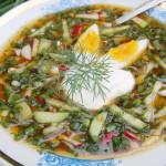 Холодный летний суп на хлебном квасе