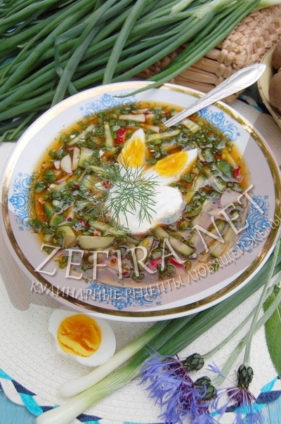 Холодный летний суп на хлебном квасе - рецепт и фото