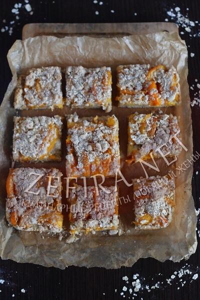 Овсяный пирог с абрикосами - рецепт и фото