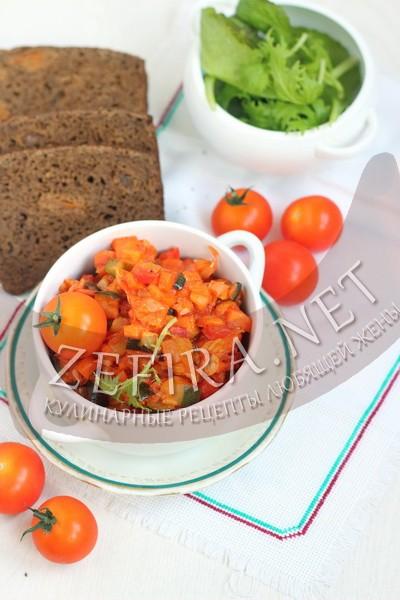 Рагу из овощей с кабачками - рецепт и фото