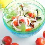 Салат из свежих кабачков с помидорами