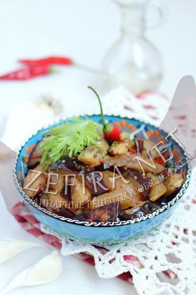 Сладкие баклажаны по-китайски - рецепт и фото