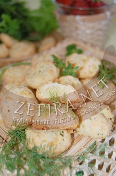 Сырное печенье с зеленью - рецепт и фото
