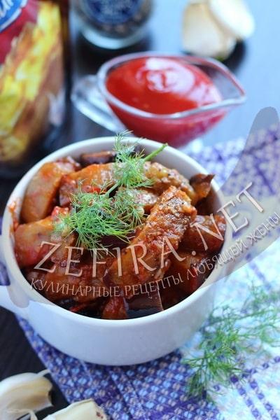 Баклажаны в томатном соусе - рецепт и фото