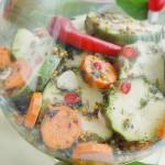 Кабачки, маринованные с морковью, чесноком и перцем чили