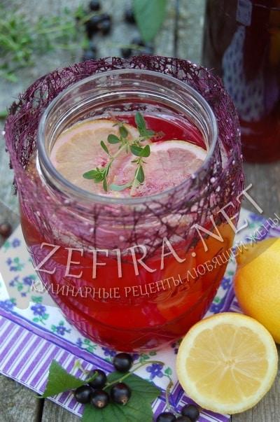 Домашний лимонад из смородины - рецепт и фото