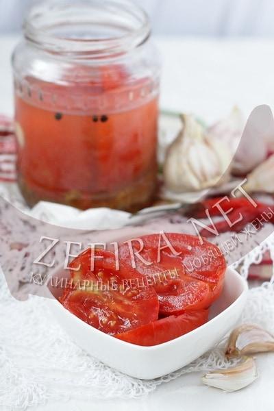 Маринованные помидоры дольками - рецепт и фото