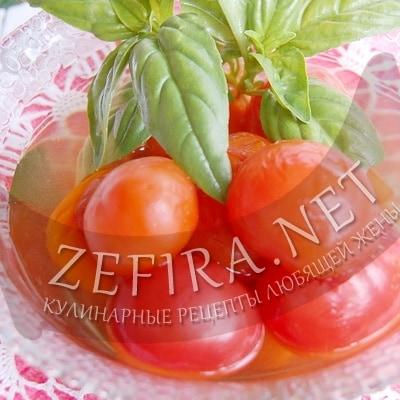 Маринованные помидоры — рецепт с чесноком и базиликом