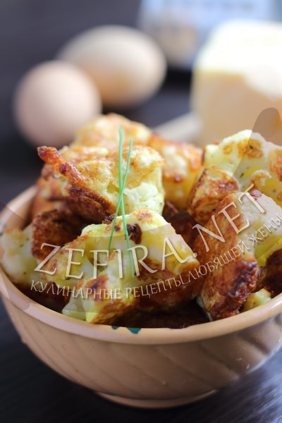 Цветная капуста в кляре с сыром - рецепт и фото