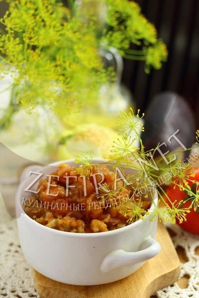 Икра из запеченых баклажанов и перца - рецепт и фото