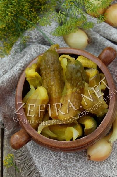 Маринованные огурцы с горчицей и куркумой – рецепт и фото