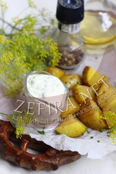 Молодой картофель в кожуре запеченный в духовке - рецепт и фото