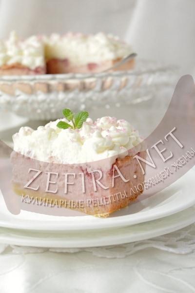 Пирог с творогом и малиной - рецепт и фото