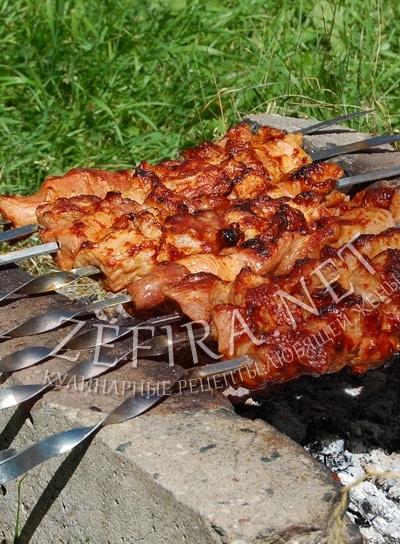 Шашлык из свинины в томатном соке - рецепт и фото