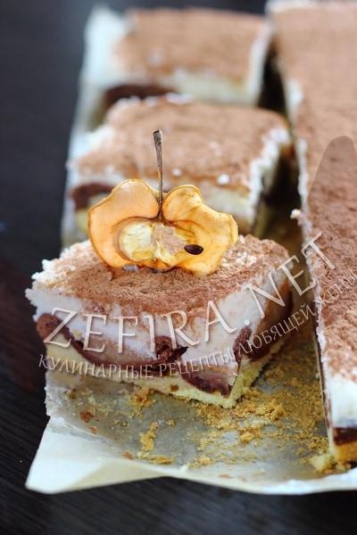 Торт с яблоками и заварным кремом «Дунайские волны» - рецепт и фото
