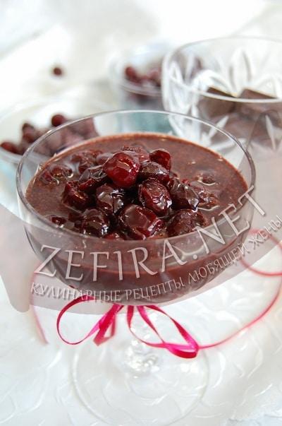 Варенье  «Вишня в шоколаде» - рецепт заготовки на зиму