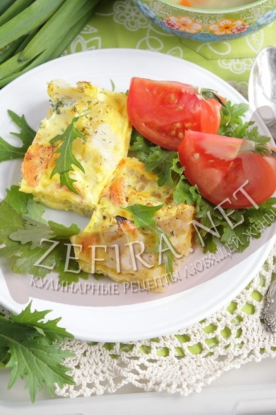 Запеканка из рыбы с цветной капустой - рецепт и фото