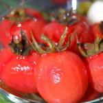 Рецепт быстро маринованных очищенных помидоров