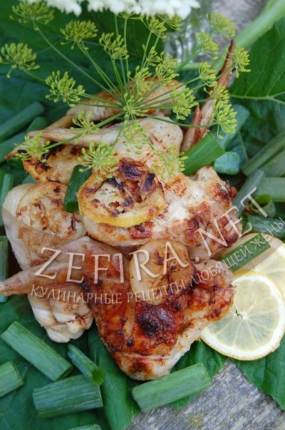 Крылышки на мангале в маринаде с лимоном и вином - рецепт и фото