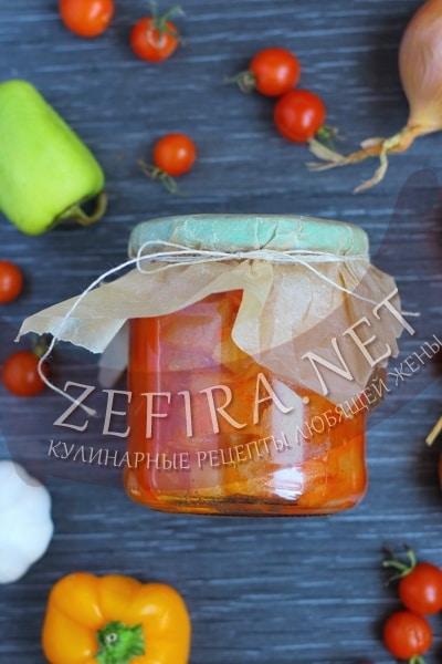 Лечо из кабачков, помидор и перца - рецепт и фото