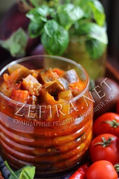 Лечо с баклажанами, помидорами и перцем - рецепт и фото