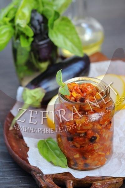 Овощная икра из кабачков и баклажанов - рецепт и фото