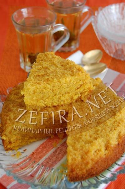 Простой морковный пирог - рецепт и фото