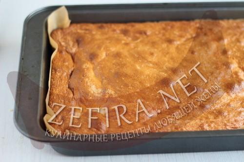 Сочный пирог с яблоками и малинойoj - пошаговая инструкция шаг6