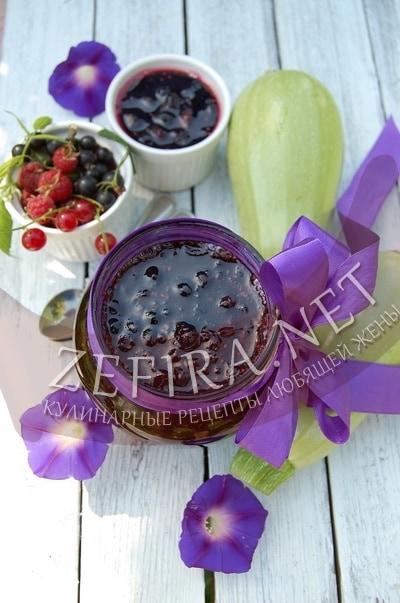 Варенье из кабачков с ягодами - рецепт и фото