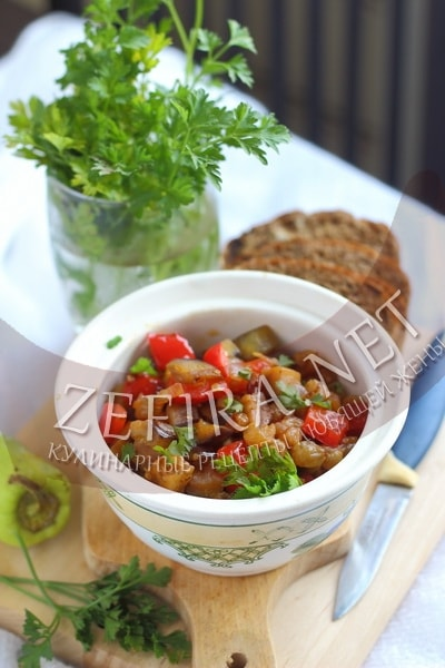 Закуска из баклажанов с изюмом - рецепт и фото