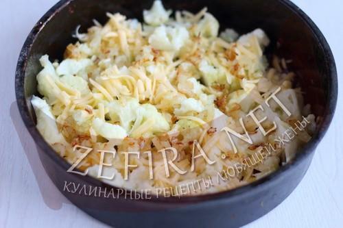 Запеканка из цветной капусты с сыром - шаг7 приготовления