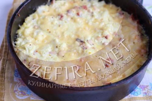 Запеканка из цветной капусты с сыром - шаг9 приготовления