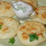 Картофельные пышки с грибами в духовке