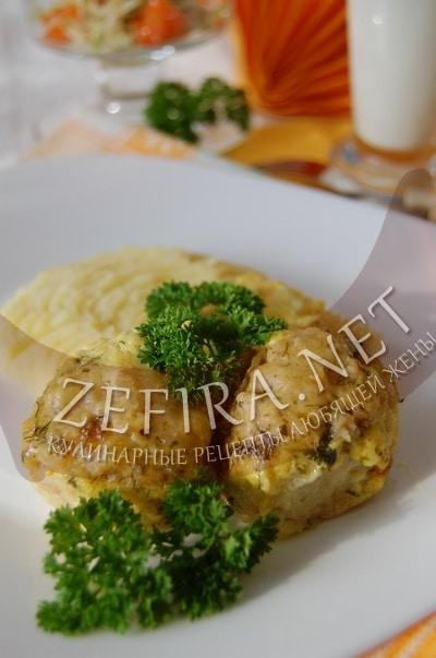 Куриные тефтели в сливочном соусе в духовке - рецепт и фото
