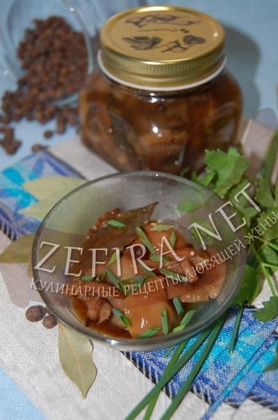 Маринованные на зиму опята с уксусом - рецепт и фото